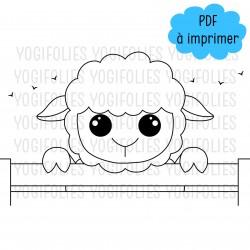 Coloriage Nestor le mouton
